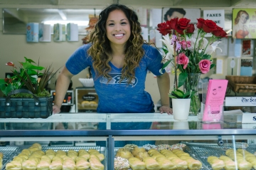 Davie is a Seahawks fan and her family has operated King Donut in Rainier Beach since 1987.
