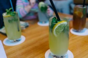 Pholicious drinks at Vipho! Giner and orange = yummy!